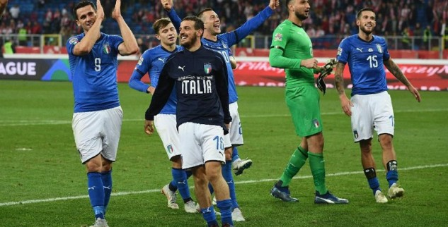 Liga A UEFA Nations League Italia Tumbangkan Polandia