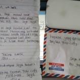 Maling Di Depok Kembalikan HP Curian Dan Tulis Surat Permohonan Maaf
