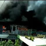 Rumah dan Pabrik Terbakar di Majalaya Diduga Karena Korsleting Listrik